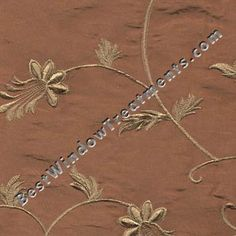 """Belvedere chenille flowers on Pumpkin Rust Orange color: 108 inch curtains, extra long 120"""" inch curtains, standard 84 & 96"""" length: grommets or back-tabs with rod pocket, lined/interlined for near blackout: fabric by the yard, or scarf swag window treatments"""