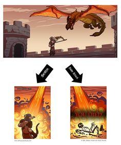 via Reddit user Epix115 - the Dragon experience in #Skyrim versus #DarkSouls #gaming