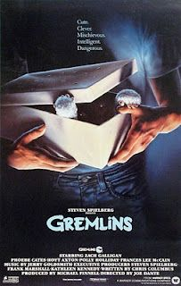 The Gremlins (1984)A boy inadvertantly breaks 3 important rules concerning his new pet and unleashes a horde of malevolently mischievous monsters on a small town.