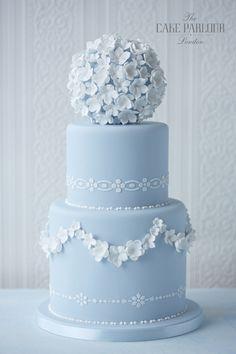 New Wedding Cakes Vintage Blue Fondant Ideas Beautiful Wedding Cakes, Gorgeous Cakes, Pretty Cakes, Amazing Cakes, Bolos Naked Cake, Rodjendanske Torte, Bolo Cake, Blue Cakes, Wedding Cake Inspiration