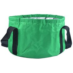 HOOYEE Multifunctional Collapsible Portable Travel Outdoor Wash Basin Folding Bucket for Camping Hiking Travelling Fishing WashingGreen >>> More info could be found at the image url.