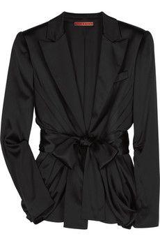 Alice + Olivia Cocoon paneled silk-satin blazer | NET-A-PORTER