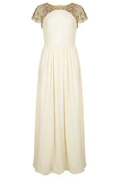 High street wedding dress bargain - we love the gold shoulder detailing!