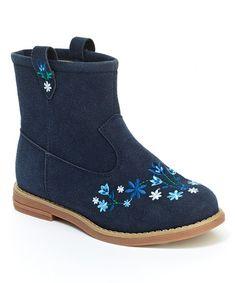 Look what I found on #zulily! Navy Elsa II Ankle Boot - Kids #zulilyfinds