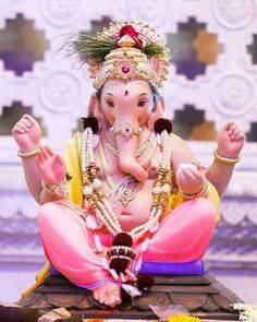 Make this Ganesha Chathurthi 2020 special with rituals and ceremonies. Lord Ganesha is a powerful god that removes Hurdles, grants Wealth, Knowledge & Wisdom. Jai Ganesh, Ganesh Lord, Ganesh Idol, Shree Ganesh, Shri Ganesh Images, Ganesha Pictures, Radha Krishna Images, Ganesh Bhagwan, Ganpati Picture