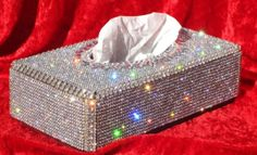 Items similar to Swarovski Crystal Tissue Box/ Silver/ Very Unique on Etsy Glitter Make Up, Sparkles Glitter, Glitter Girl, Kleenex Box, Ideias Diy, Glitz And Glam, Deco Design, Tissue Boxes, Furniture Makeover