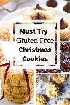 Christmas Cookie Roundup- all gluten free cookies, some dairy free cookies, some healthy cookies, all are delicious! 13 cookie recipes to choose from! via @GLUTENFREEMIAMI