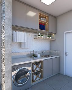 Image may contain: indoor Outdoor Laundry Rooms, Small Room Bedroom, Kitchen Design, House Design, Kitchen Decor, Home Decor, Pantry Design, Modern Laundry Rooms, Home Decor Furniture