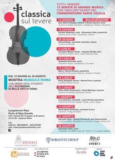 Venerdì 12 GIUGNO sarà un onore aprire la stagione musicale Classica sul Tevere organizzata da Arte2O e patrocinata dal Conservatorio di Santa Cecilia, accompagnato dallo SteamQuartet !  Vi aspettiamo per l'inaugurazione di questa bellissima iniziativa che vedrà per tutta l'estate un concerto di musica classica con i migliori talenti del Conservatorio Santa Cecilia ogni venerdì a Lungotevere Ripa!  Ore 20, INGRESSO GRATUITO!  #classicasultevere #roma #guitar #chitarra #