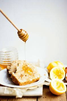 coconut  lemon bread with salted honey butter | a feast for the eyes #food #recipe