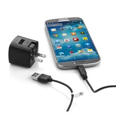 Delton Core 1AMP 2PC Home Charger Kit for LG Samsung HTC All Micro USB Devices #HPMICRO2PBLK