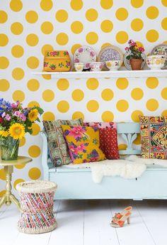 Polka dots and patterns. So cheerful!