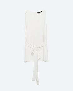 Image 6 of BELTED BLOUSE from Zara