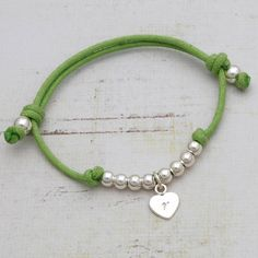 Childrens personalised friendship bracelet heart charm