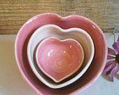 Heart shaped nesting bowls