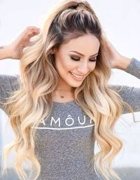 Half-Ponytail Hairstyle for Long, Thick Hair