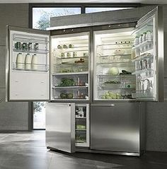 his and hers refrigerator/freezer... hmmm that looks nice