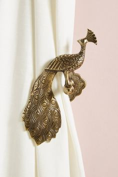 Ida Peacock Tieback by Anthropologie in Brown, Hardware Isle Of Man, Curtain Ties, Curtains, Drapery, Curtain Holder, Style Marocain, Reclaimed Wood Shelves, Curtain Hardware, Indian