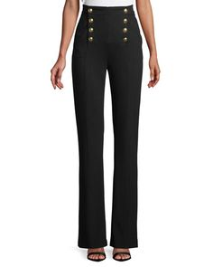 e05787fc61ff V by Very Curve High Waisted Wide Leg Trouser - Black