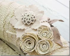 Vintage Wreath - how to make everything on this wreath is here