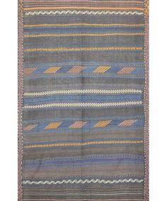 "Afghani Old Kilim Rug K-235-Design# 1077, Size- 5'-6"" X 8'-7""  #carpet #rugs #flooring #office #home #decoration #bedroom #livingroom #diy #handmade #best #cleaning #modern #design #runner #print"