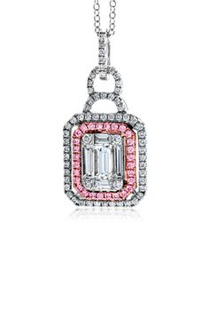 Simon G Mosaic Necklace Pink Diamond Jewelry, Mosaic, Necklaces, Fancy, Jewels, Shop, Beautiful, Bijoux, Chain