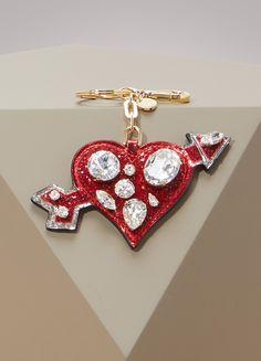 Buy Miu Miu Heart charm online on 24 Sèvres. Miu Miu, Bridal Jewelry Sets, Love Valentines, Colorful Fashion, Key Rings, Heart Charm, Belly Button Rings, Bracelet Watch, Crochet Earrings