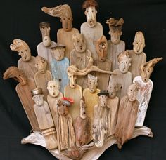 WORKSHOP KARIBU Xavier DEPARIS. Driftwood people. Go to site to see many more. They're all wonderful!
