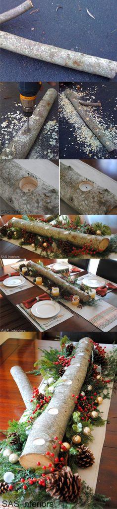 Centro de mesa para Navidad - jennaburger.com - Christmas table centerpiece