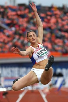 Ivana Spanovic of Serbia in action during the final of the womens long jump on day three of The European Athletics Championships at Olympic. Artistic Gymnastics, Olympic Gymnastics, Olympic Games, Athletic Models, Athletic Women, Foto Sport, Running Pictures, Beautiful Athletes, Long Jump