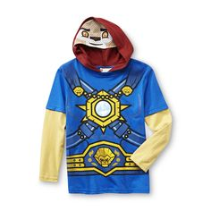 LEGO- -Legend of Chima Boy's Hooded Long-Sleeve T-Shirt Costume - Laval-Clothing-Boys-Character Apparel