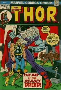 Thor vs The Druid.  #Thor #Druid  Auction your comics on www.comicbazaar.co.uk