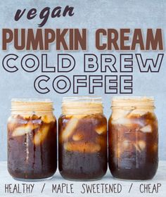 This reimagined version of the Starbucks Pumpkin Cream Cold Brew is made solely with healthy and dairy-free ingredients. The delightfully luscious pumpkin spice foam it contains is impossible to resist!