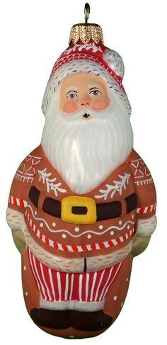 Jolly Gingerbread Santa from Vaillancourt Folk Art