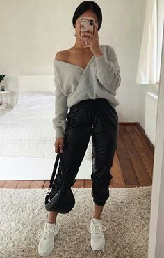 Cute Comfy Outfits, Cute Fall Outfits, Winter Fashion Outfits, Pretty Outfits, Stylish Outfits, Classy Outfits, Cold Day Outfits, Looks Hip Hop, Mode Chic