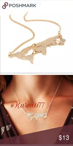 New Gold Necklace 1 Only ‼️ New Gold map Necklace. ‼️Bundle & Save ‼️ Karen1177 Jewelry Necklaces