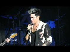 Adam Lambert performs Pop That Lock, talks about Queen, and then sings Never Close Our Eyes at the Pacific Amphitheatre, Costa Mesa, CA. July 19, 2012.