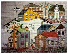 Chez Princesse Nounouche - love these house quilts!