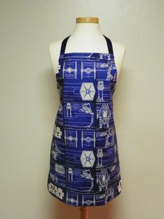 Star Wars Blueprint Apron Reversible Star by FancyThatApronsMore, $24.95 Holy crap! This is one the coolest Star Wars things I have ever seen!