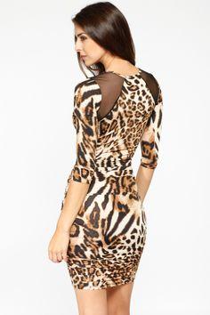 bae014d1c3 Leopard Print Ruched Side Dress   Cicihot sexy dresses