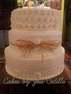 Western theme wedding cake. 3 tier heart shaped. White fondant with ...