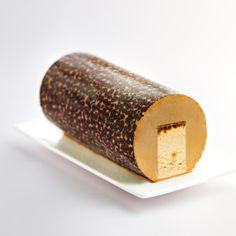 Bûche glacée moka-noisette - Picard    Un duo de crèmes glacées moka et noisette enrichi d'inclusions de noisettes caramélisées avec en son centre un biscuit café-caramel.