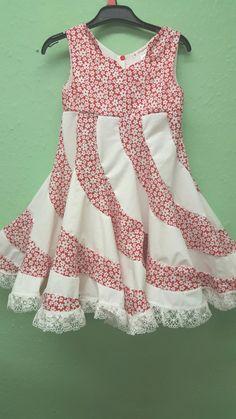 Items similar to Akira. peppermint swirl girls dress on Etsy Baby Girl Christmas Dresses, Little Girl Dresses, Girls Dresses, Young Girl Fashion, Toddler Fashion, Kids Fashion, Frock Patterns, Kids Dress Patterns, Modest Outfits