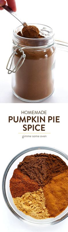 Learn how to make homemade Pumpkin Pie Spice with this quick and easy recipe!   http://gimmesomeoven.com