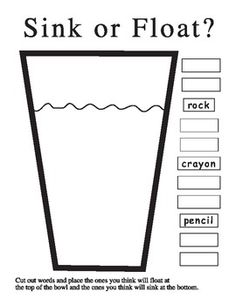 Kindergarten Science printables: sink or float Preschool Science, Elementary Science, Science Classroom, Kindergarten Classroom, Teaching Science, Science For Kids, Science Ideas, Preschool Learning, Science Education