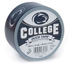 Penn State University College Duck Tape® brand duct tape http://duckbrand.com/products/duck-tape/licensed/college-duck-tape/penn-state-188-in-x-10-yd?utm_campaign=college-duck-tape-general&utm_medium=social&utm_source=pinterest.com&utm_content=college-duck-tape