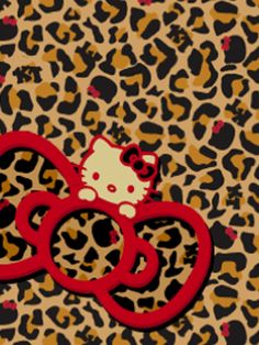 red leopard hello kitty wallpaper - photo #28