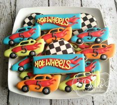 Dolce. Hot Wheels. Racing cars.