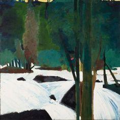 Elmer Bischoff (US 1916-1991) The River, c. 1953 oil on canvas (142x142 cm)Bay…