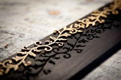 Wood Scroll Inlay Before Insertion